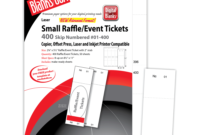 Pm Sku: Lts805B6Wh) – Raffle Tickets, Numbered, White, 2 1/8 within Blanks Usa Templates
