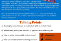 Podcast One Sheet – The Business Power Hour throughout Business One Sheet Template