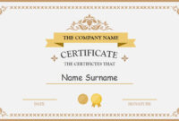 Polished Design Certificate For Powerpoint with regard to Certificate Of Participation Template Ppt