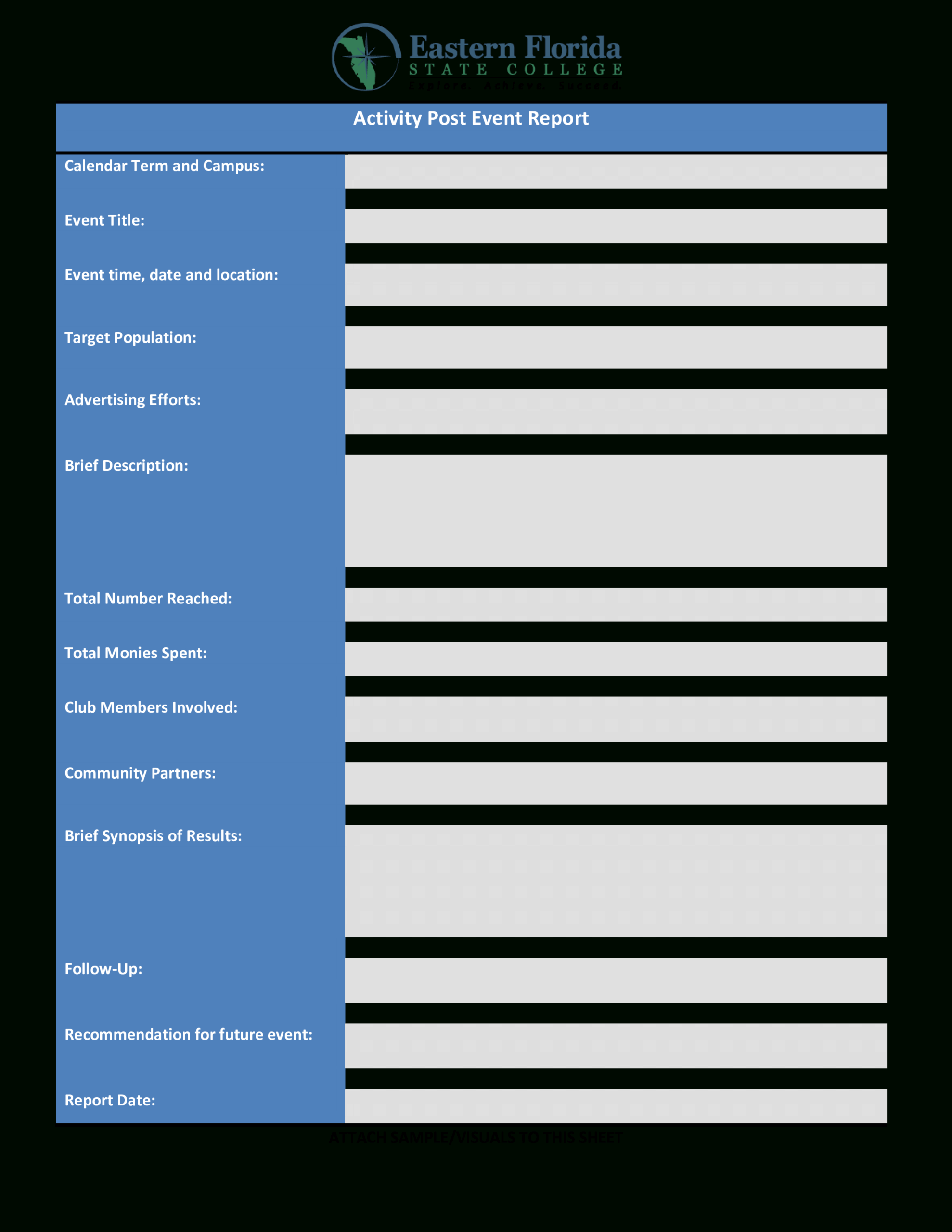 Post Event Report | Templates At Allbusinesstemplates For After Event Report Template