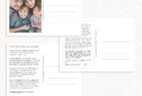Postcard Back Photoshop Template Set For Photographers intended for Back Of Postcard Template Photoshop