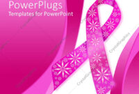 Powerpoint Template: Pink Breast Cancer Ribbon With Sparkly regarding Breast Cancer Powerpoint Template