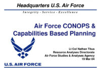 Ppt – Air Force Conops & Capabilities Based Planning within Air Force Powerpoint Template