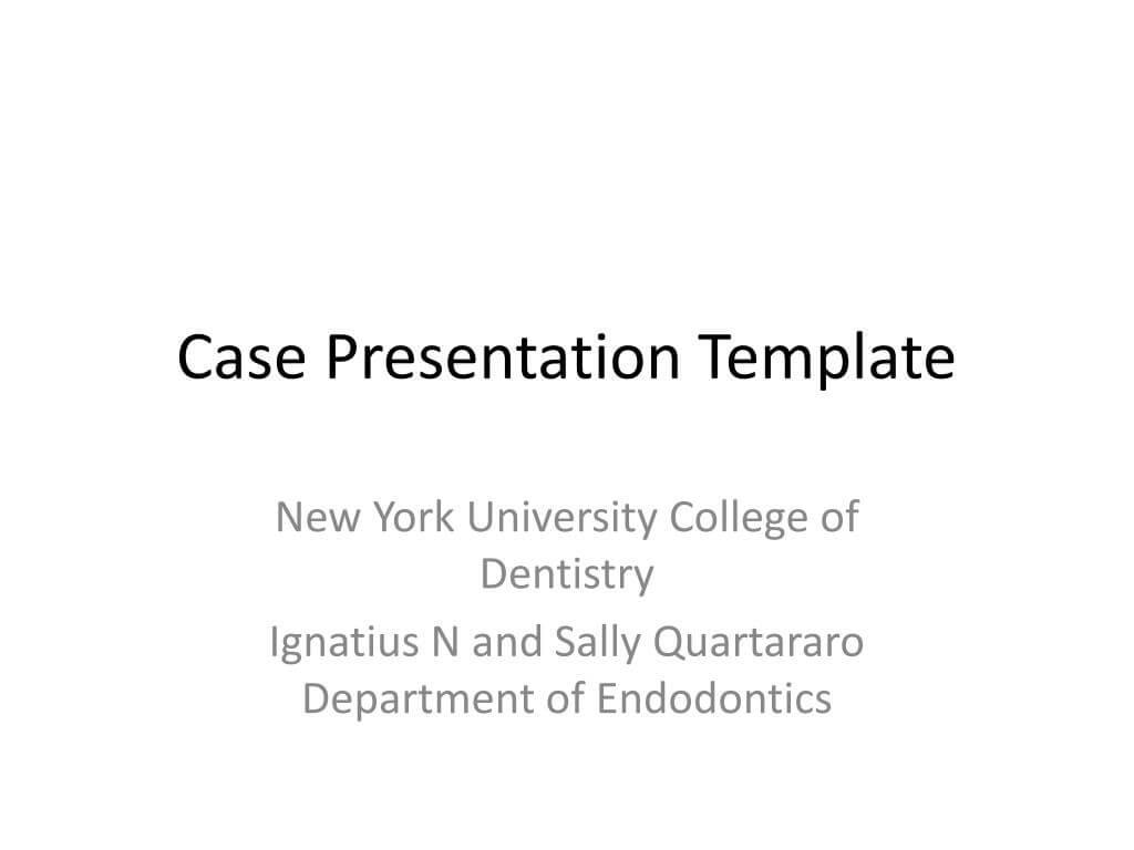 Ppt – Case Presentation Template Powerpoint Presentation Inside Case Presentation Template