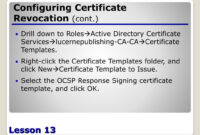 Ppt – Configuring Active Directory Certificate Services pertaining to Active Directory Certificate Templates