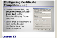 Ppt – Configuring Active Directory Certificate Services with Active Directory Certificate Templates