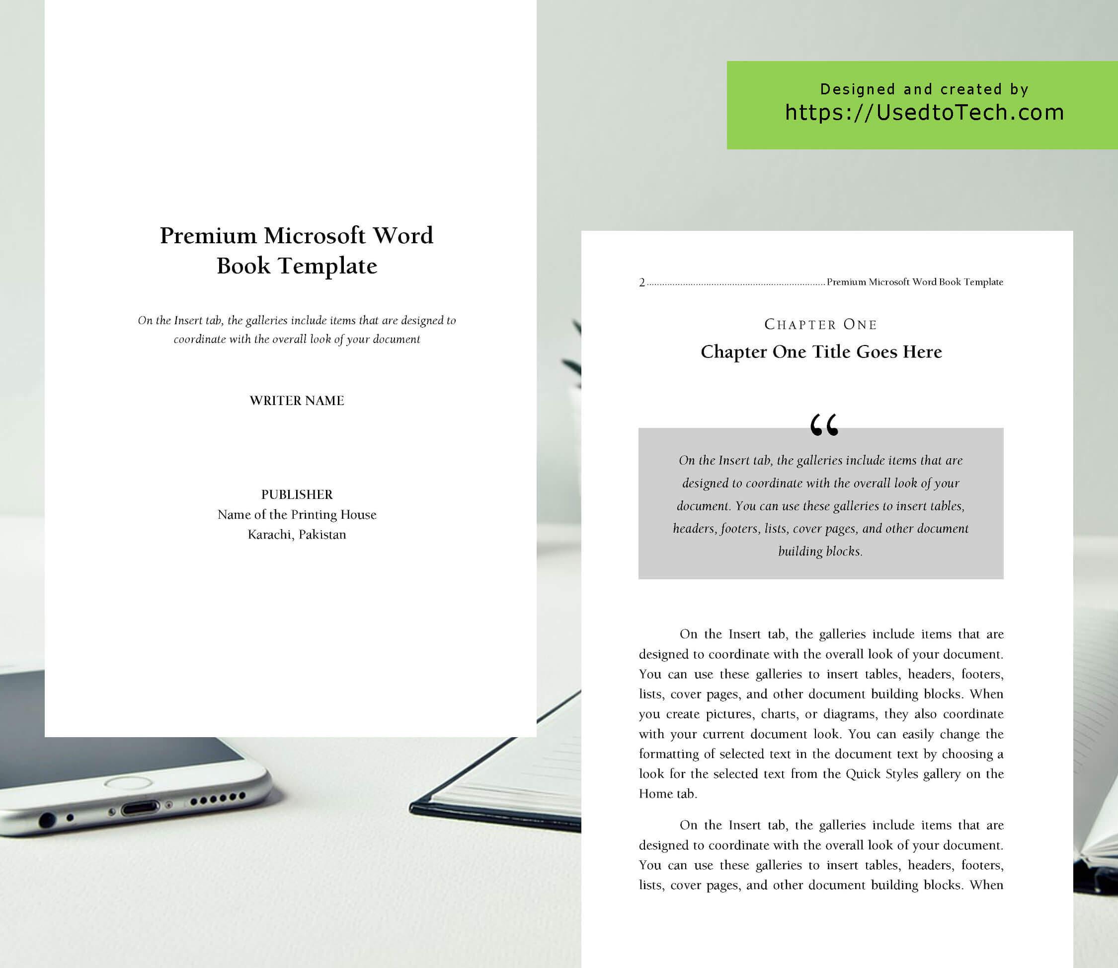 Premium & Free 6 X 9 Book Template For Microsoft Word - Used Regarding 6X9 Book Template For Word