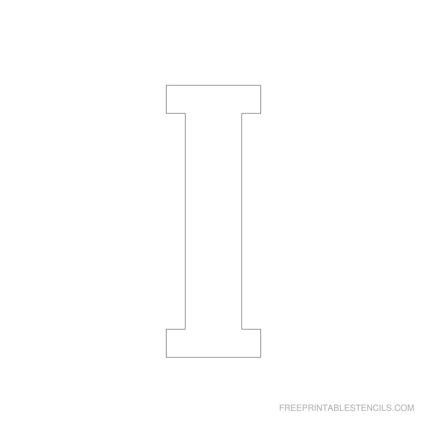 Printable 4 Inch Letter Stencils A Z | Free Printable Stencils In 4 Inch Letter Template