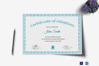 Printable Adoption Certificate Template pertaining to Blank Adoption Certificate Template