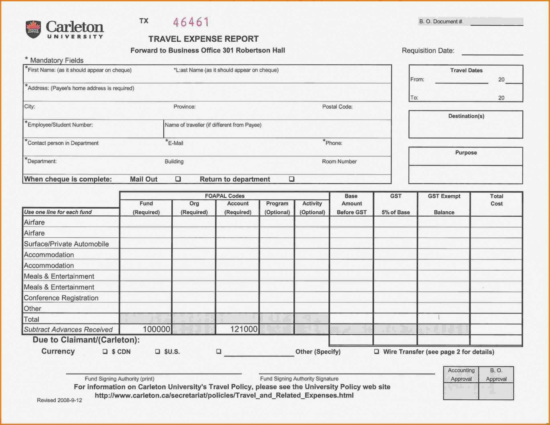 Printable Air Balance Report Form Mersnproforum Form In Air Balance Report Template