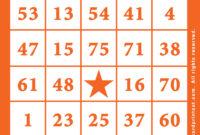 Printable Bingo Cards Pdf – Bingocardprintout with Blank Bingo Template Pdf