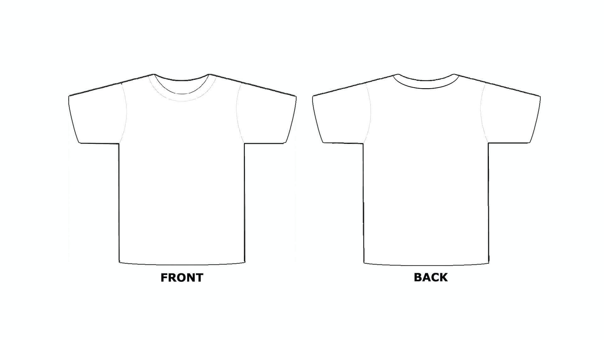Printable Blank Tshirt Template - C Punkt Regarding Blank Tshirt Template Pdf