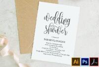 Printable Bridal Shower Invitation Template – Rustic Modern inside Bridal Shower Invite Template