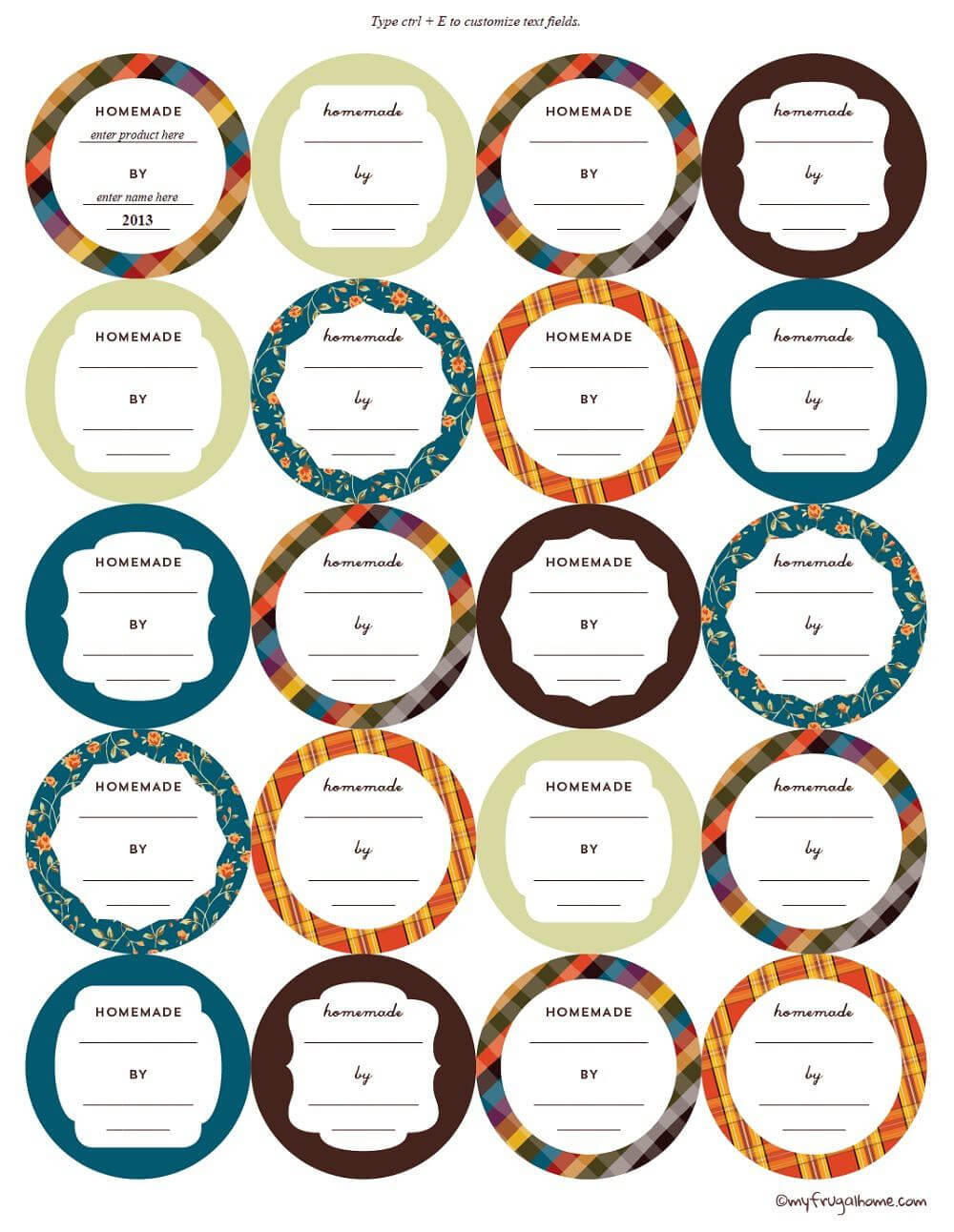 Printable Canning Jar Labels In Canning Jar Labels Template