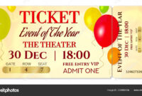Printable Concert Ticket Templates   Admission Ticket for Blank Admission Ticket Template