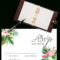 Printable Free Wedding Rsvp Template & Cards Microsoft Word Intended For Acceptance Card Template