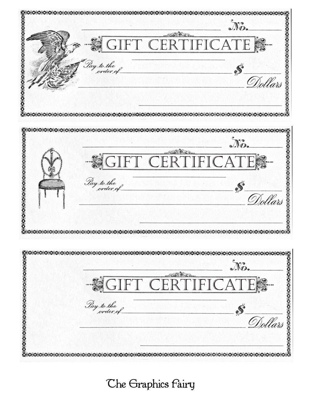 Printable Gift Certificates Template Awesome Free Printable Regarding Black And White Gift Certificate Template Free