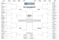 Printable Ncaa Tournament Bracket For March Madness 2019 regarding Blank March Madness Bracket Template