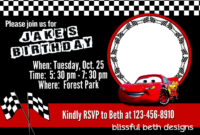 Printable Race Car Birthday Invitation Template Free with Cars Birthday Banner Template