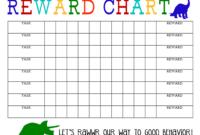 Printable Reward Chart – The Girl Creative with regard to Blank Reward Chart Template