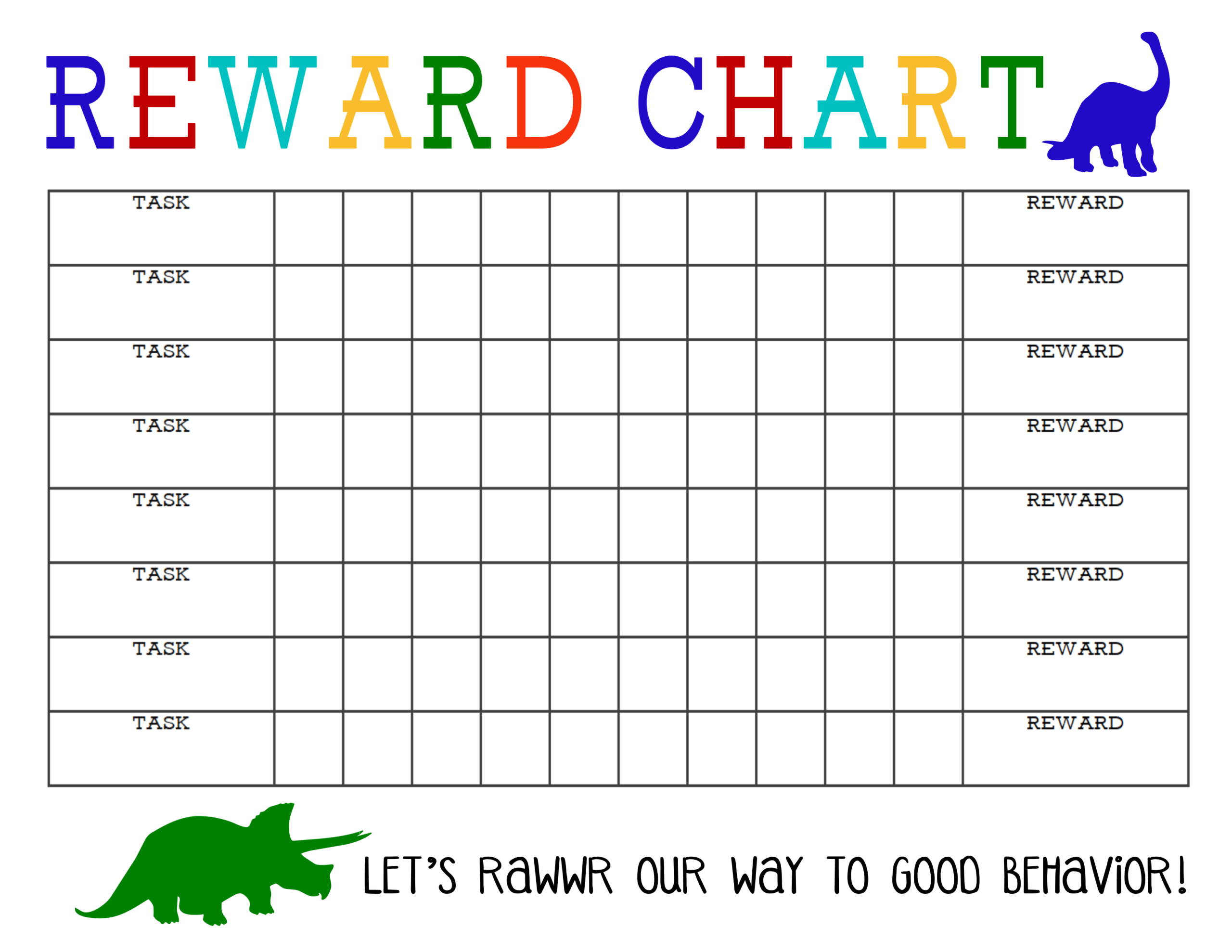 Printable Reward Chart - The Girl Creative With Regard To Blank Reward Chart Template
