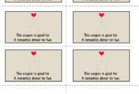 Printable Romantic Coupons – Tunu.redmini.co pertaining to Blank Coupon Template Printable
