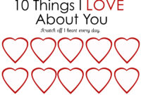 Printable Scratch-Off Card {Easy Peasy Valentine} within 52 Things I Love About You Cards Template