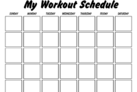 Printable Workout Log Sheets   Templates At intended for Blank Workout Schedule Template