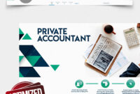 Private Accountant – Free Twitter Header Psd Template – in Accounting Flyer Templates