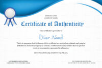 Product Authenticity Certificate Template intended for Certificate Of Authenticity Template