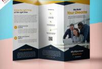 Professional Corporate Tri-Fold Brochure Free Psd Template for 3 Fold Brochure Template Free