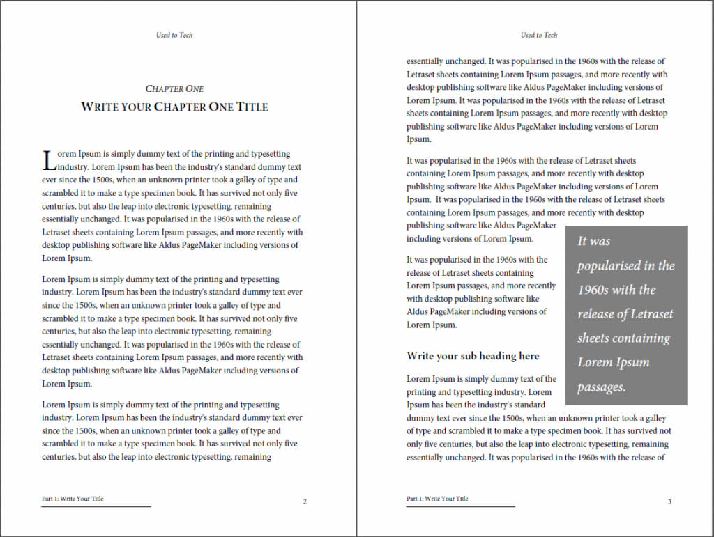 Professional Looking Book Template For Word, Free - Used To Tech In 6X9 Book Template For Word
