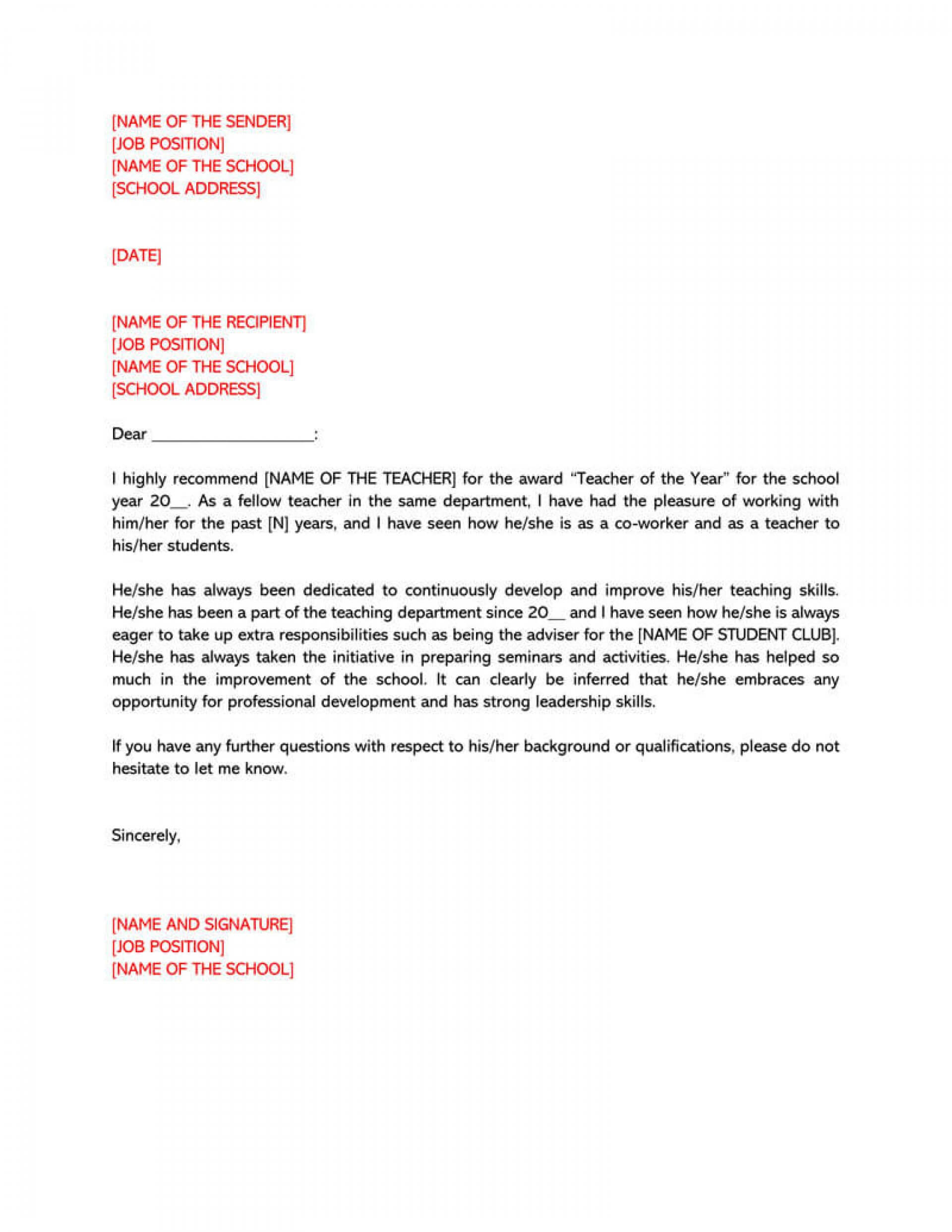 Professional Reference Letter Template Word – Tunu.redmini.co Regarding Business Reference Template Word