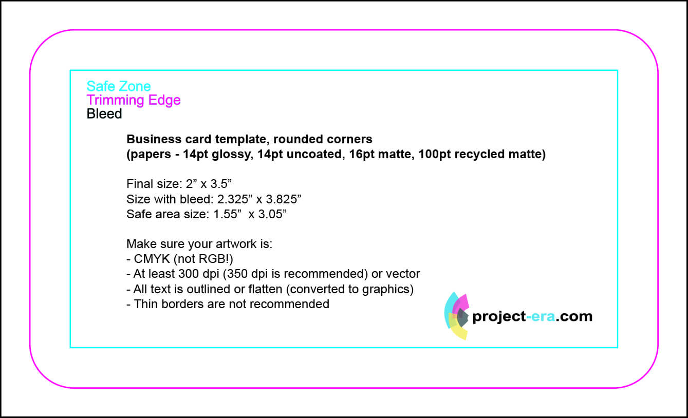 Project Era – Print & Design Services – Print Templates Throughout Business Card Size Template Photoshop