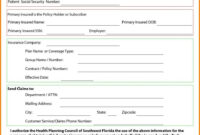 Quote Template Form Example Otation Forms Templates Fitbo for Car Insurance Card Template Download