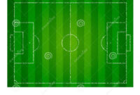 Realistic Textured Grass Football Field. Soccer Pitch. Empty with regard to Blank Football Field Template