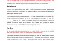 Realtor Business Plan Mplate This Free Real Estate Proposal pertaining to Business Plan Template For Real Estate Agents