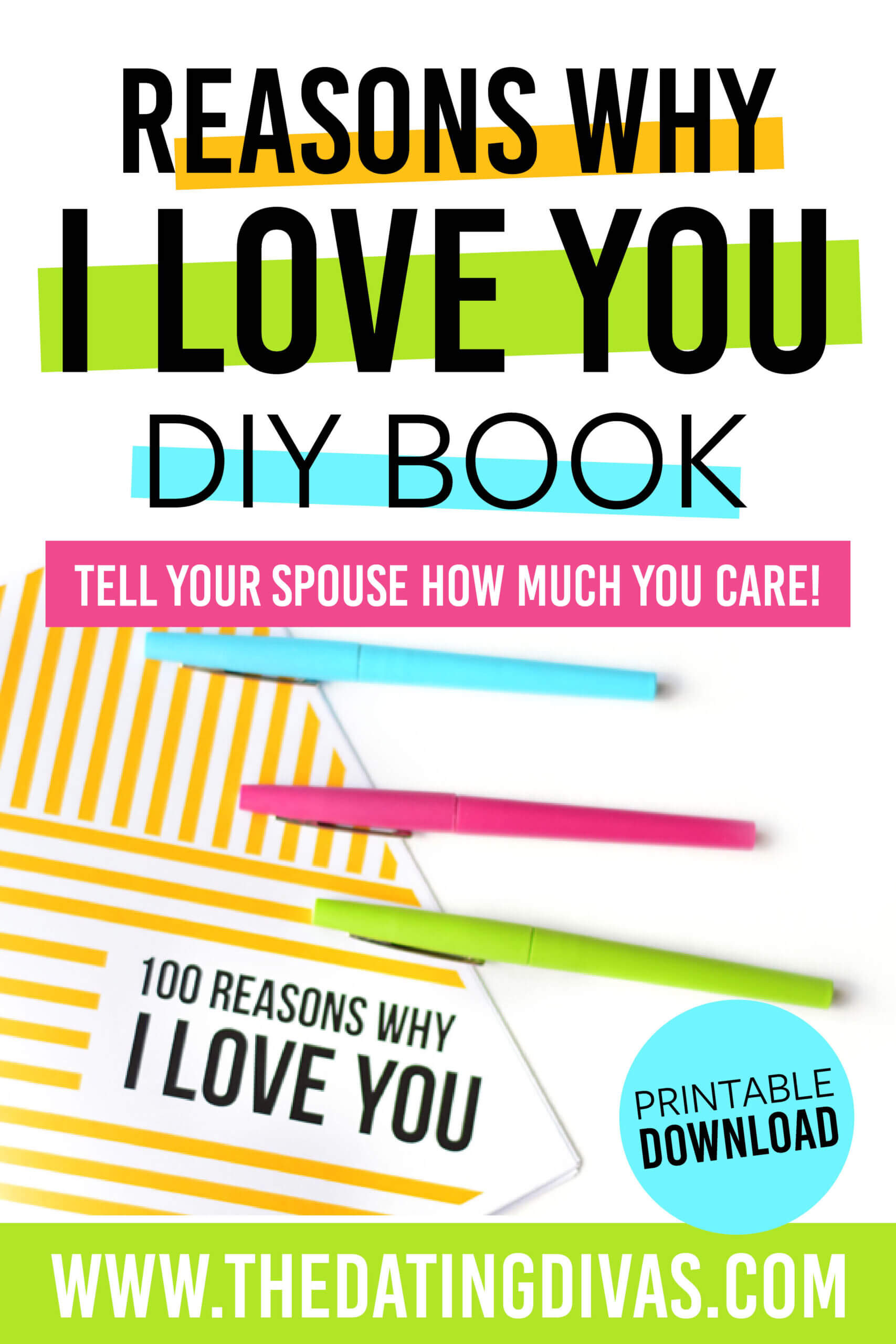 Reasons Why I Love You | From The Dating Divas In 52 Reasons Why I Love You Cards Templates Free