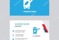 Recycling Bin Business Card Design — Stock Vector for Bin Card Template