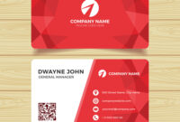 Red Geometric Business Card Template in Calling Card Free Template