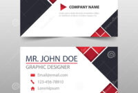 Red Triangle Corporate Business Card, Name Card Template pertaining to Buisness Card Template