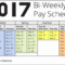 Reference 2017 Biweekly Payroll Calendar Template Excel Inside 2017 Biweekly Payroll Calendar Template