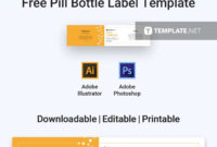 Remarkable Pill Bottle Labels Templates Template Ideas Label intended for Adobe Illustrator Label Template
