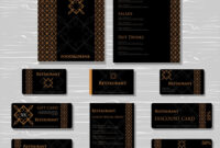 Restaurant Cafe Menu Template Set regarding Adobe Illustrator Menu Template