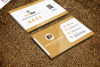 Restaurant Chef Business Card Template Free Psd with Business Card Maker Template