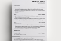 Resume Duncan in Ats Friendly Resume Template