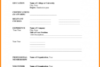 Resume Template Fill In Free – Colona.rsd7 throughout Blank Resume Templates For Microsoft Word