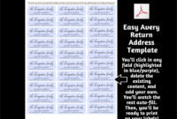 Return Address Label Template, Printable Envelope Label regarding 1 X 2 5 8 Label Template