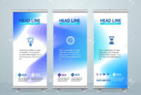 Roll Up Banner Stand Design Template With Abstract Colorful Shapes.. intended for Banner Stand Design Templates