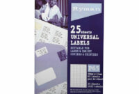 Ryman Address Labels P65 Universal 21X38Mm 65 Per Sheet 25 Sheets with 65 Label Template